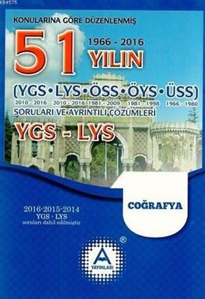YGS - LYS Coğrafya 51 Yılın Çıkmış Soruları Ve Ayrıntılı Çözümleri
