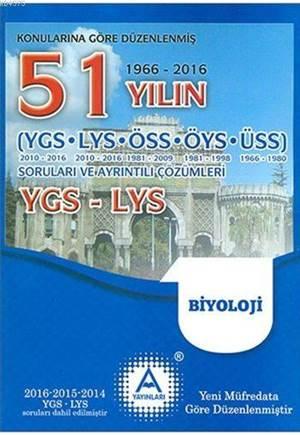 YGS - LYS Biyoloji 51 Yılın Çıkmış Soruları Ve Ayrıntılı Çözümleri