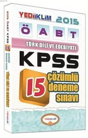 ÖABT Türk Dili Ve Edebiyatı Öğretmenliği Tamamı Çözümlü 15 Deneme Sınavı