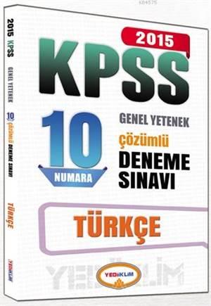 KPSS Türkçe Çözümlü 10 Deneme Sınavı 2015