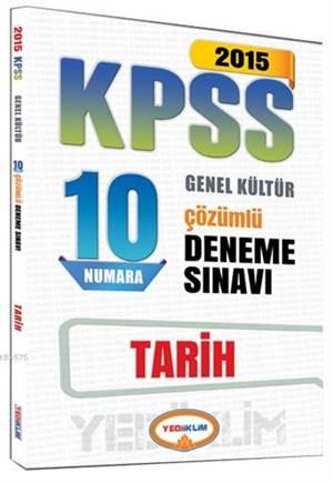 KPSS Tarih Çözümlü 10 Numara Deneme Sınavı 2015