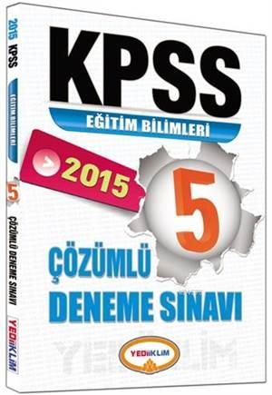 KPSS Eğitim Bilimleri Çözümlü Deneme Sınavı 2015