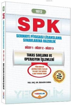 Yediiklim 2016 Spk 1012 Takas Saklama Ve Operasyon İşlemleri