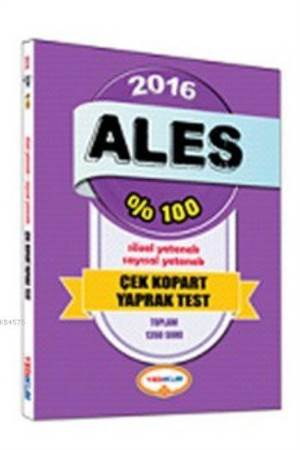 2016 %100 Ales Çek Kopart Yaprak Test