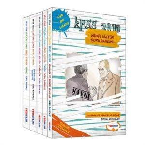 2016 Yediiklim KPSS Lise Önlisans Genel Kültür Modüler Soru Bankası Seti (5 Kitap)