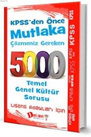 KPSS Genel Kültür 5000 Soru Bankası 2016