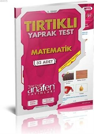 Anafen 3.Sınıf Matematik Tırtıklı Yaprak Test (32 Yaprak) Dvd'Li