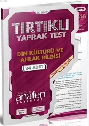 8. Sınıf Din Kültürü Ve Ahlak Bilgisi Tırtıklı Yaprak Test; 24 Adet Yaprak Test - Çözüm Dvd'li