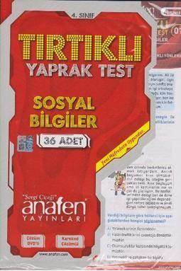 4. Sınıf Sosyal Bilgiler Tırtıklı Yaprak Test