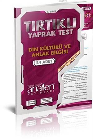 8. Sınıf Din Kültürü Ve Ahlak Bilgisi Tırtıklı Yaprak Test; 24 Adet Test