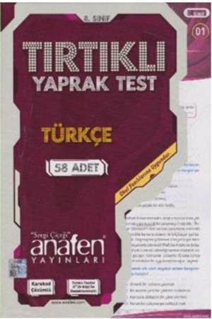 8. Sınıf Türkçe Tırtıklı Yaprak Test
