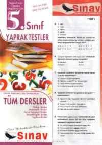 5. Sınıf Yaprak Testler
