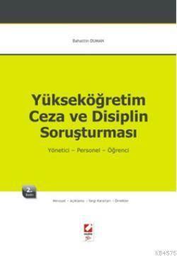 Yüksek Öğretim Ceza ve Disiplin Soruşturması