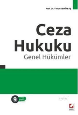 Ceza Hukuku - Genel Hükümler