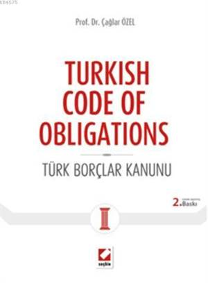 Turkish Code of Obligations; Türk Borçlar Kanunu