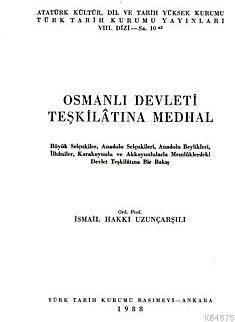 Osmanlı Devleti Teşkilatına Medhal