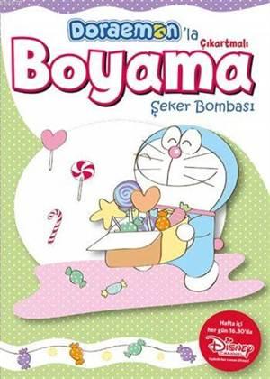 Doraemon'la Çıkartmalı Boyama; Şeker Bombası