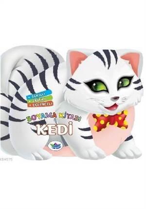 Şekilli, Eğitici, Eğlenceli Boyama Kitabı - Kedi