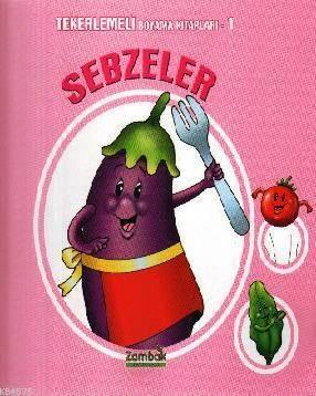 Tekerlemeli Boyama Kitapları 1 - Sebzeler