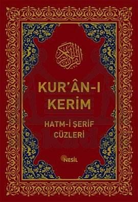 Kur'an-Kerim Hatm-i Şerif Cüzleri (Kutulu)
