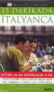 15 dakikada İtalyanca Kitap ve 60 dakikalık 2 CD