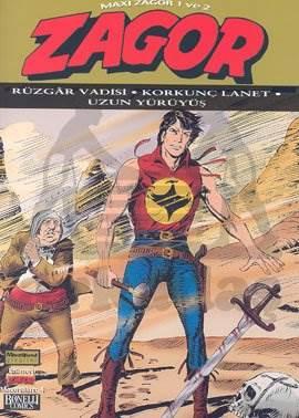 Zagor Maxi Zagor 1 ve 2 Rüzgar Vadisi - Korkunç Lanet - Uzun Yürüyüş