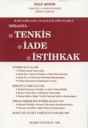 Mirasta Tenkis - Iade - Istihkak