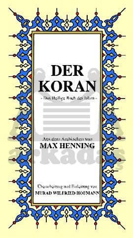 Der Koran,  (Almanca  K.K.  Meali  )  K.Boy