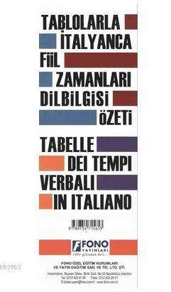 Tablolarla İtalyanca Fill Zamanları Dilbilgisi Özeti