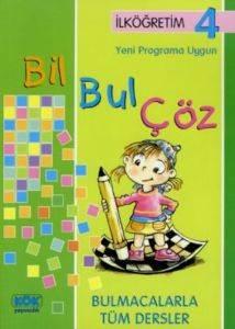 İlköğretim 4 Yeni Programa Uygun Bil Bul Çöz Bulmacalarla Tüm Dersler
