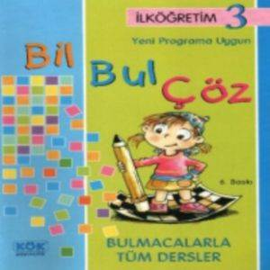 İlköğretim 3 Yeni Programa Uygun Bil Bul Çöz Bulmacalarla Tüm Dersler