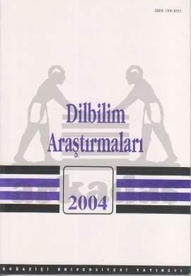 Dilbilim Araştırmaları 2004