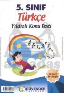 Güvender 5 Sınıf Türkçe Poşet Test 28 Adet