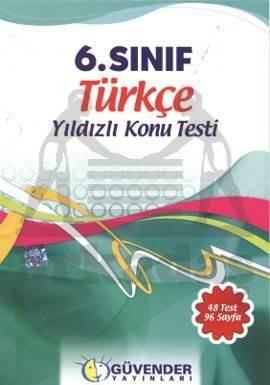 Güvender 6 Sınıf Türkçe Poşet Test 48 Adet