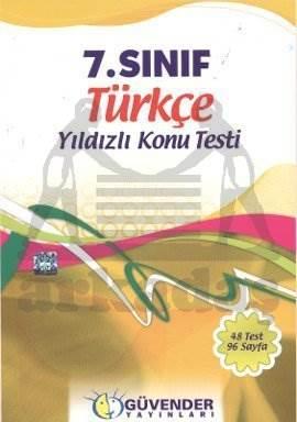Güvender 7 Sınıf Türkçe Poşet Test 48 Adet
