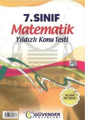 Güvender 7 Sınıf Matematik Poşet Test 48 Adet