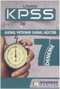 Güvender KPSS Lisans 7 Deneme Genel Yetenek Genel Kültür 2014