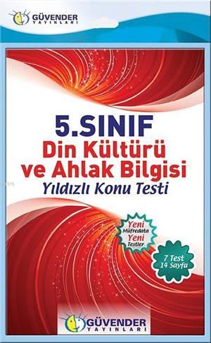 5.Sınıf Din Kültürü Ve Ahlak Bilgisi Konu Testi; 7 Adet