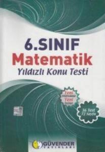 Güvender 6. Sınıf Matematik Yıldızlı Konu Testi