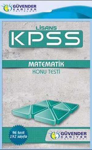 KPSS Lisans Matematik Konu Testi; 96 Adet Yaprak Test
