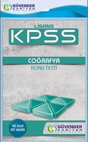 KPSS Lisans Coğrafya Konu Testi; 40 Adet Yaprak Test