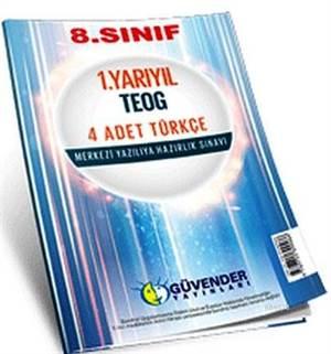 8. Sınıf 1. Yarıyıl TEOG 4 Adet Türkçe; Merkezi Yazılıya Hazırlık Sınavı
