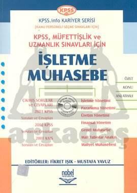 KPSS, Müfettişlik ve Uzmanlık Sınavları İçin İşletme Muhasebe