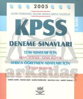 2005 KPSS Deneme Sınavları Tüm Adaylar İçin