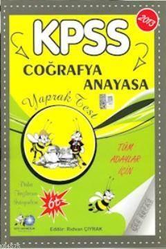 KPSS Coğrafya - Anayasa Yaprak Test 2013