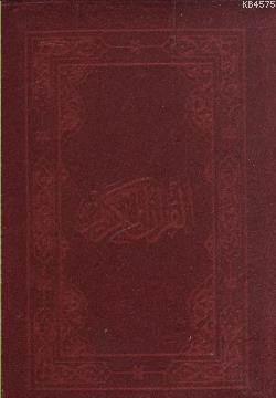 Kur'ân-I Kerîm (Çanta Boy-Flok Kılıflı Plastik Sert Kapak-Kadife Kılıf-4 Renk) (Kod 1532F)