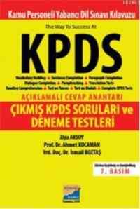 KPDS Açıklamalı Cevap Anahtarı