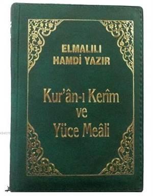 Kur'an-ı Kerim ve Yüce Meali Elmalılı M. Hamdi Yazır - Büyük Cep Boy (Kılıflı)
