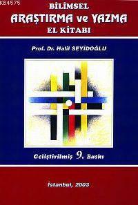 Bilimsel Arastirma ve Yazma El Kitabi; Gelistirilmis 9. Baski