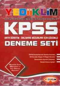 Yediiklim KPSS Genel Yetenek-Genel Kültür Deneme Seti (Ortaöğretim, Önlisans) 20 Çözümlü Deneme